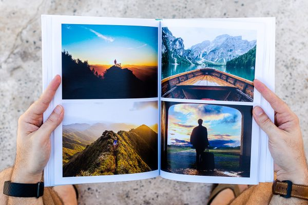 collage portrait photo album