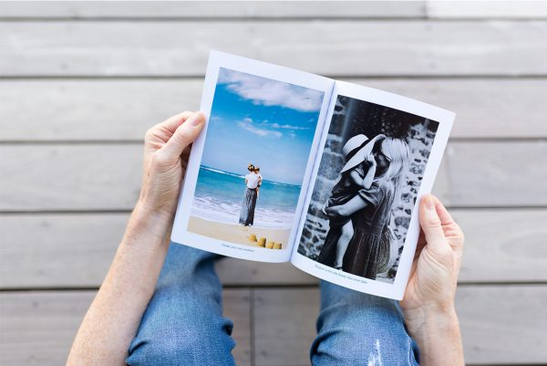 small portrait softcover family album
