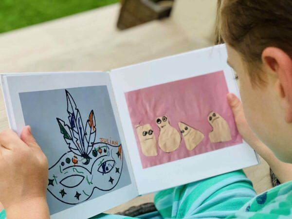 kids artwork for memories